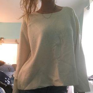 Velvet-Bow-Back Sweater